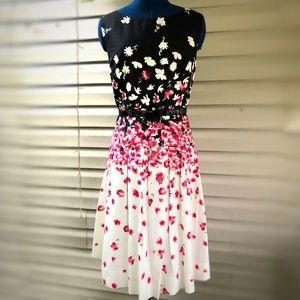 Jessica Howard | Floral belted Midi Dress